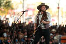 INDIO, CA - APRIL 29:  Lukas Nelson performs onstage during 2018 Stagecoach California's Country Music Festival at the Empire Polo Field on April 29, 2018 in Indio, California.  (Photo by Christopher Polk/Getty Images for Stagecoach)