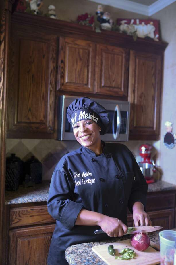 Chef Meleka McGee is building her brand in Midland with her own spice blend and local TV appearances.  Photo: James Durbin/Reporter-Telegram