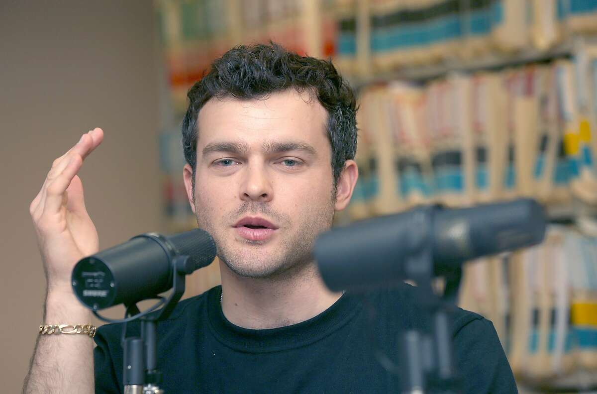 """Aldenn Ehrenreich, who plays Han Solo in the new """"Star Wars"""" film, in the Chronicle archives talking during a recent podcast."""