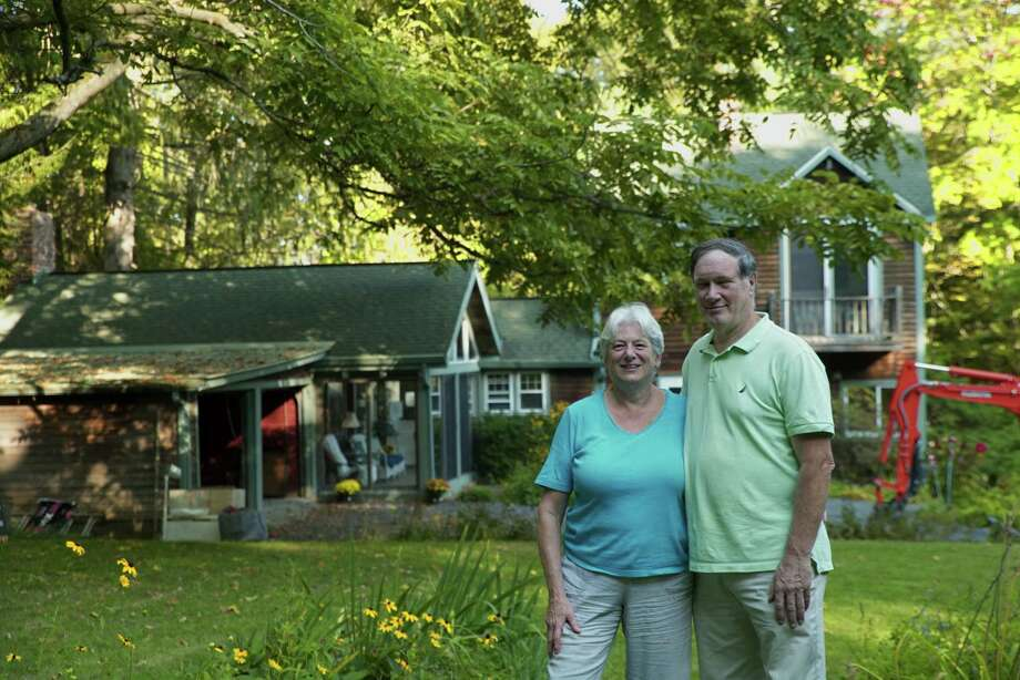 Becky Meier and Bob Connors at their home in Canaan. (Photo provided)