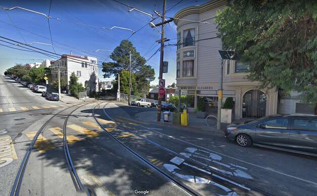 Pavement, overhead wires and cars aside, it's actually similar today. Even the building on the right is practically identical in appearance. Photo: Google Street View