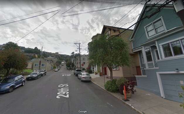 29th and Castro today, sans quarry and open, rural spaces. Photo: Google Street View