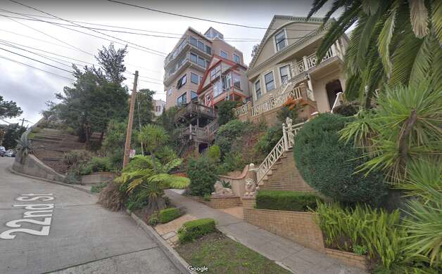 Stairs are still a practical solution today. This is Collingwood and 22nd St., inevitably stair-filled. Photo: Google Street View