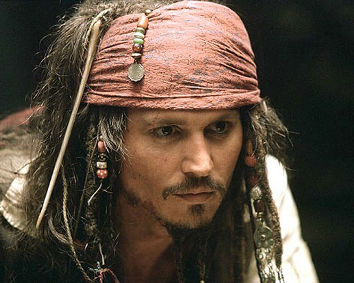 As swashbuckling Captain Jack Sparrow in