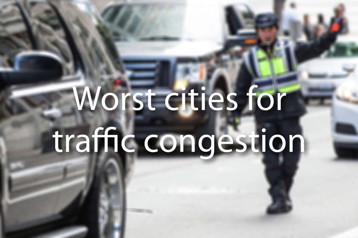Keep clicking to see the worst cities for traffic congestion in the U.S., according to INRIX's latest Global Traffic Scorecard.