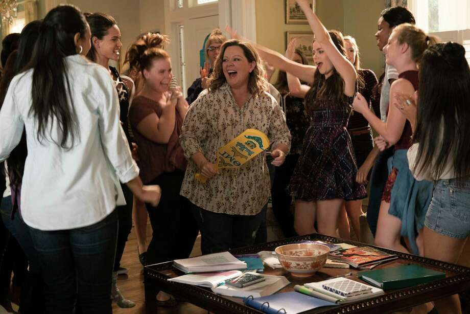 "This image released by Warner Bros. Pictures shows Melissa McCarthy, center, in a scene from the comedy ""Life of the Party,"" in theaters on May 11. (Hopper Stone/Warner Bros. Pictures via AP) Photo: Hopper Stone / © 2016 Warner Bros. Entertainment Inc. All Rights Reserved."