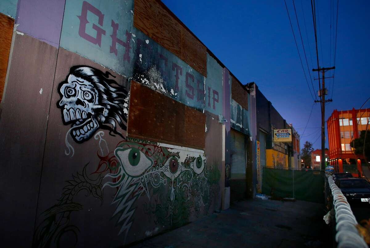 The Ghost Ship warehouse where a fire killed 36 people last December 2nd, as seen on Tuesday Nov. 28, 2017, in Oakland, Calif.