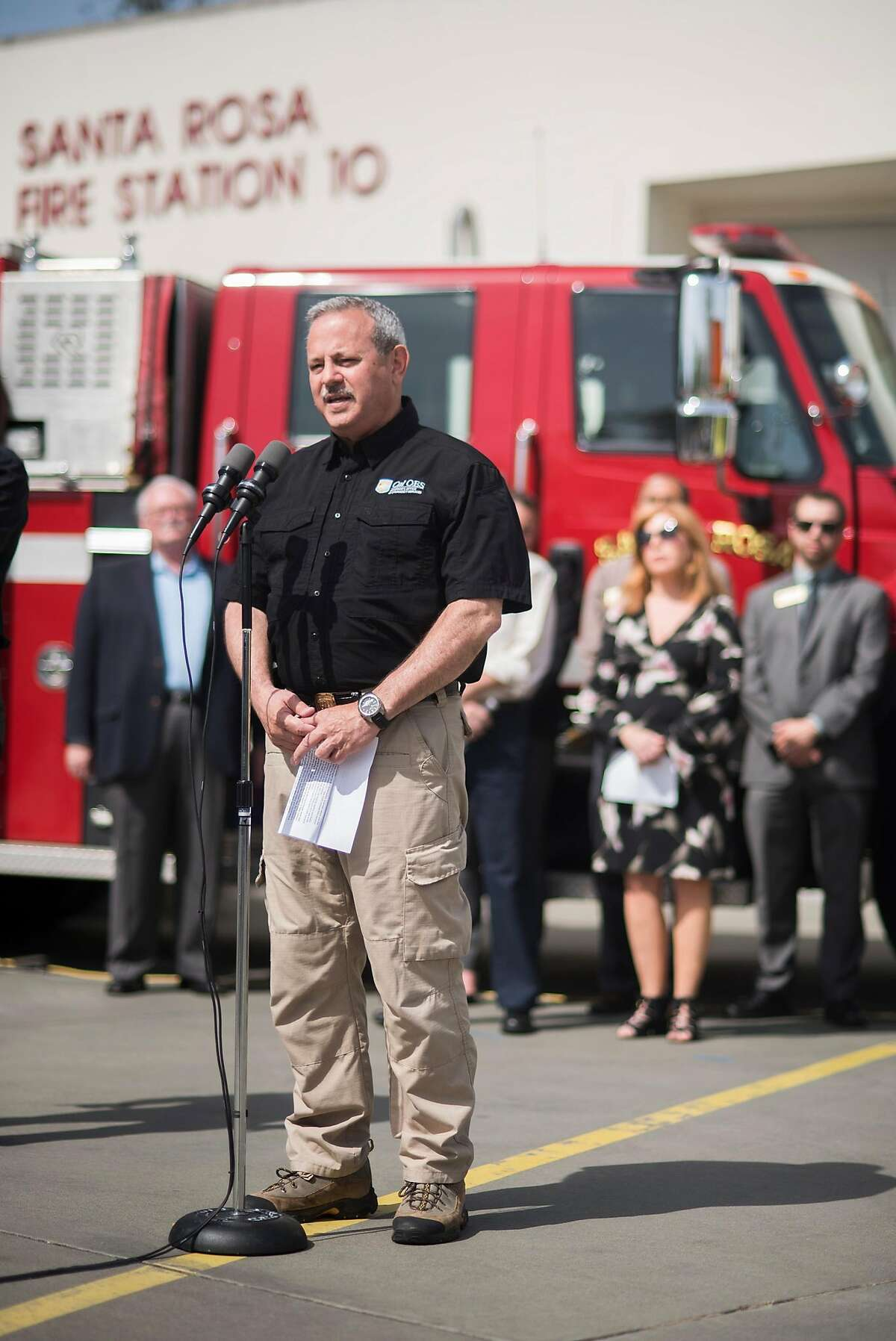 Nearly six months after one of the largest debris removal operations in state history began, state, local and federal partner agencies have finished clean-up from the destructive Northern California wildfires of 2017. Representatives from various agencies addressed the media at a press conference on May 10, 2018 in Santa Rosa, CA. Cal OES Director, Mark Ghilarducci address the media at the press conference.