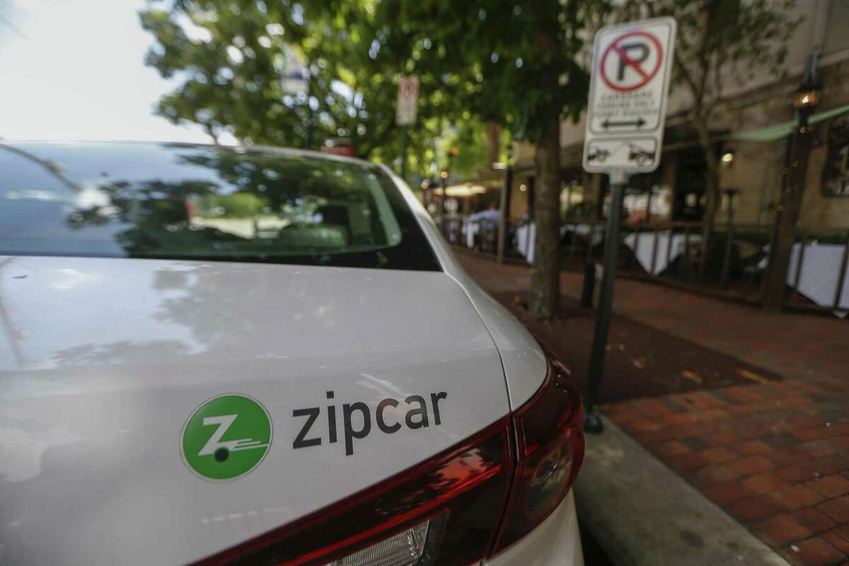 """A Zipcar parked at Babgy and Gray named """"Mayor Turner"""" on May 10 in Midtown."""