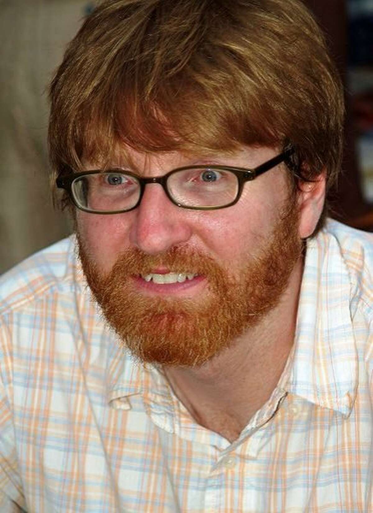 Author Chuck Klosterman speaks on pop culture at Trinity University as part of the Stieren Arts Enrichment Series.
