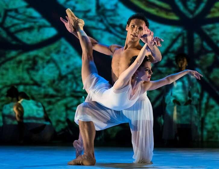 Ramona Kelley and Domenico Luciano in �Consort� (2017) Choreography by Graham Lustig Photo: John Hefti