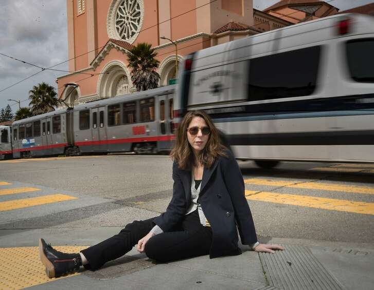 """Novelist Rachel Kushner's new novel is """"?The Mars Room.""""  Kushner grew up in San Francisco and had an apartment in the Sunset District. She's now living in Los Angeles and visits her former neighborhood on Sunday, March 18, 2018 in San Francisco, CA"""