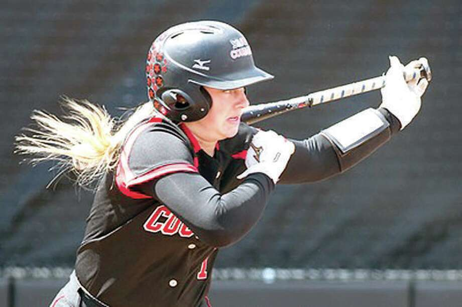 SIUE's Zoe Schafer was 3-for-43 with a two-run homer in her team's 4-2 loss to Eastern Kentucky University in the Ohio Valley Conference Tournament in Oxford, Ala. Photo:       SIUE Athletics