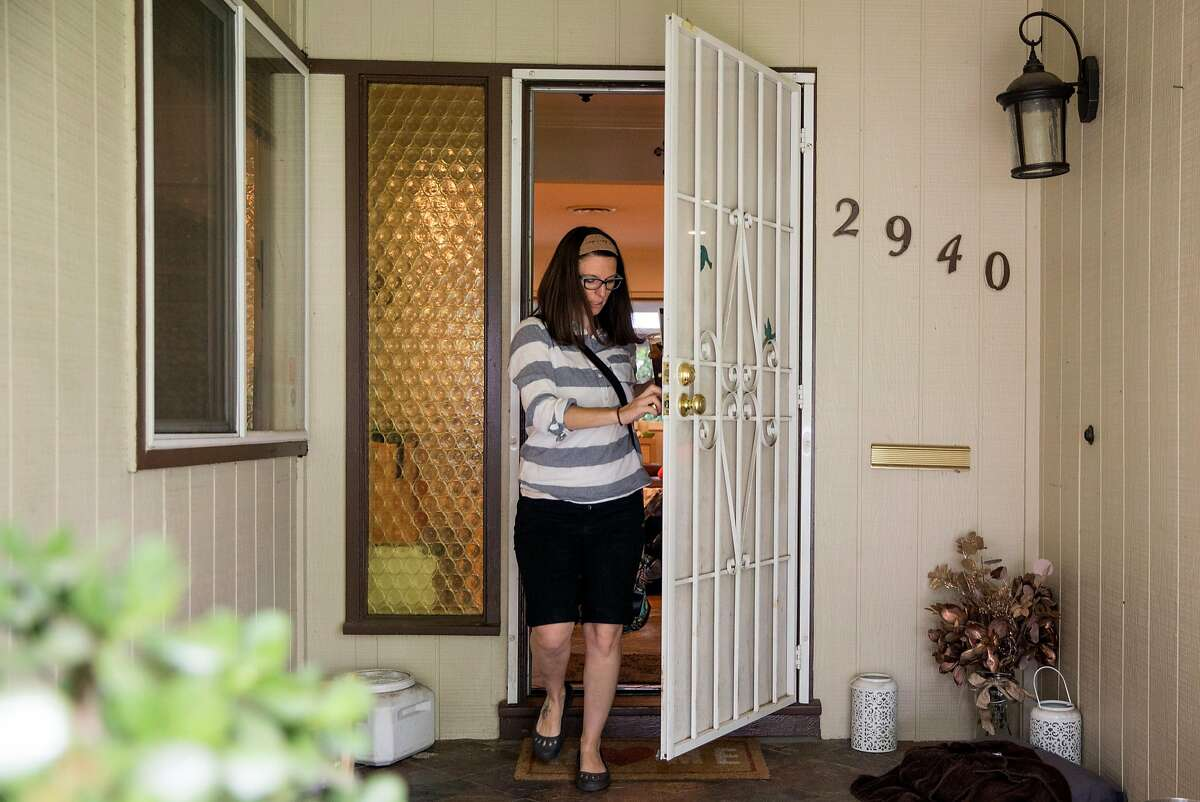 Jessica Quiambo, a behavioral analyst, leaves her home in Tracy, Calif. Saturday, May 5, 2018 to head to work in Fremont, Calif.