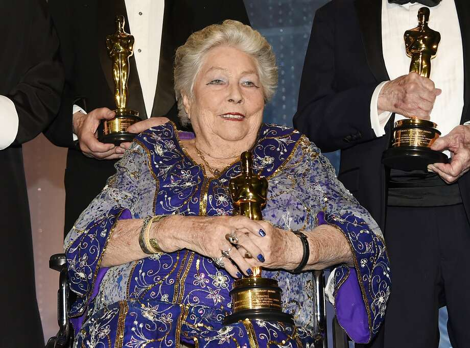 """Anne V. Coates, who edited """"Lawrence of Arabia,"""" appears at the Governors Awards in Los Angeles. Photo: Chris Pizzello / Associated Press 2016"""