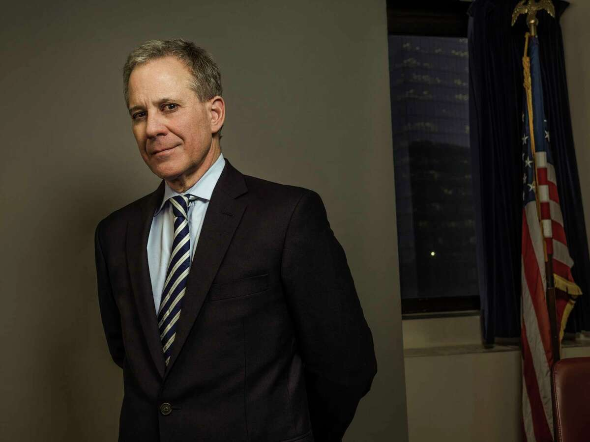 FILE-- Eric Schneiderman, the attorney general of New York, at his office in Manhattan, Dec. 15, 2017. Before his sudden downfall, there was no denying that Schneiderman, 63, had a knack for getting results and getting attention during his more than seven years as attorney general. (Sasha Maslov/The New York Times)