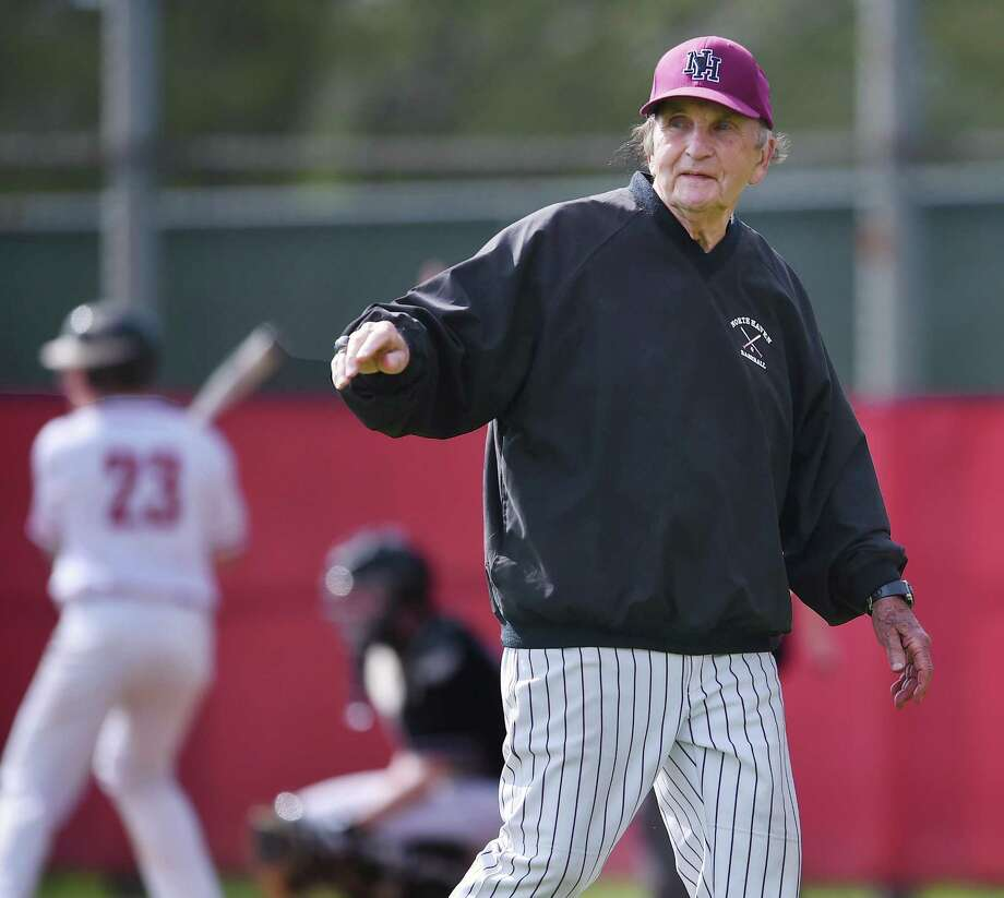North Haven head coach Bob DeMaio against Branford Wednesday, May 9, 2018, at the George T. Dummar, Jr. Baseball Field at Branford High School. The Indians won, 3-1. Photo: Catherine Avalone / Hearst Connecticut Media / New Haven Register