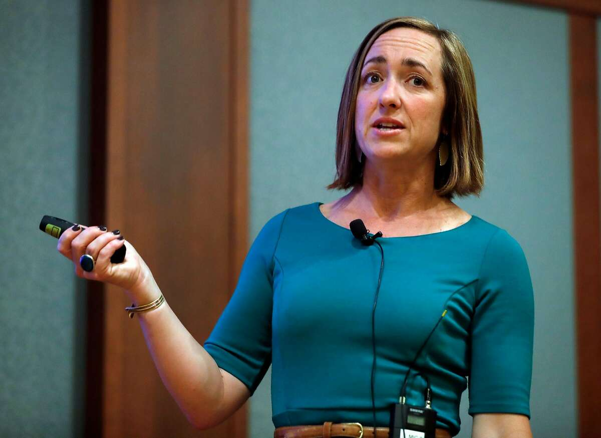 Psychiatrist Amy Barnhorst gives a lecture on mental illness and gun violence at University Retirement Community in Davis.