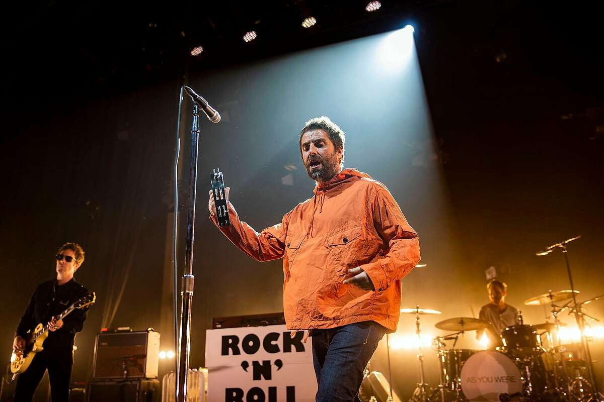 Liam Gallagher, former singer of Oasis, performs at the Masonic in San Francisco on Thursday, May 10, 2018.