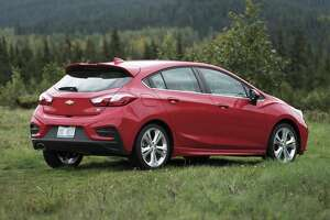 Hatchbacks are prized for their storage versatility and the Cruze delivers with 22.7 cu. ft. with all seats in their normal and upright positions or up to 47.2 cu. ft. with the rear seats lowered. Those second-row seats can also be folded down independently. (Chevrolet photo)