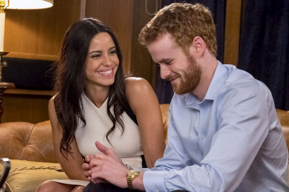 "Parisa Fitz-Henley as Meghan Markle and Murray Fraser as Prince Harry in ""Harry & Meghan: A Royal Romance."" Photo: Lifetime / Lifetime"