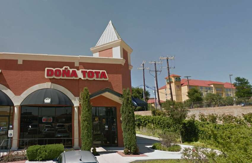 Gorditas Dona Tota: 927 N FM 1604 E #115, San Antonio, TX 78258 Date: 05/07/2018 Score: 82 Highlights: Inspector observed drain flies around three-compartment sink and mop sink areas; utensils seen in room temperature water - must be over 135 degrees F; establishment did not have current/valid permit at time of inspection; hot water not available at handwashing sink; prepared foods must be labeled with expiration date; dishes must properly dry before storage (hanging ladles with water in them and bucket of clean utensils on drying rack with liquid at bottom); replace non-working light bulbs; leaks observed at three-compartment sink; poisonous/toxic chemicals must be properly labeled