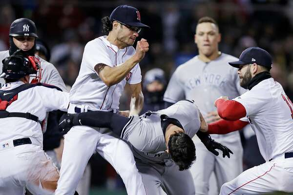 3382d51e85284 1of4Red Sox reliever Joe Kelly (left) and Yankees first baseman Tyler  Austin mixed it up in an April brawl at Fenway Park.Photo  Charles Krupa    Associated ...