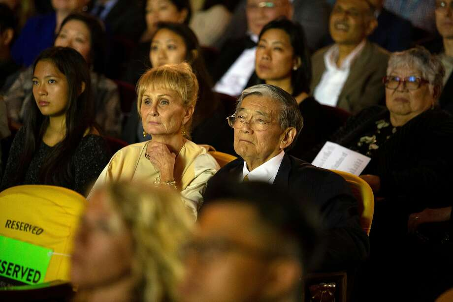 "Danealia and Norm Mineta attend the CAAMFest screening of ""An American Story: Norman Mineta and His Legacy."" Photo: D. Ross Cameron / Special To The Chronicle"