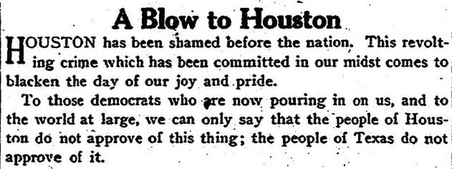 Front page Chronicle editorial denouncing the lynching.