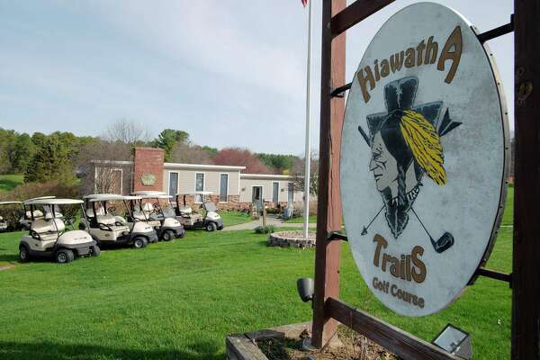 A view of Hiawatha Trails Golf Course on Wednesday, May 2, 2018, in Guilderland, N.Y. Hiawatha is likely to close at some point this year once approval is given for a new senior housing development that would be built on a portion of the current course.  (Paul Buckowski/Times Union)