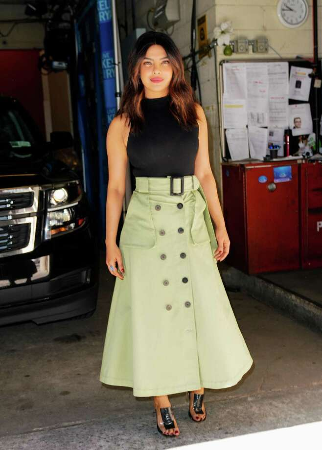 "Priyanka Chopra at ""Live with Kelly and Ryan"" wears a maxi skirt, a comfortable yet stylish look. Photo: Gotham / GC Images / 2018 Gotham"