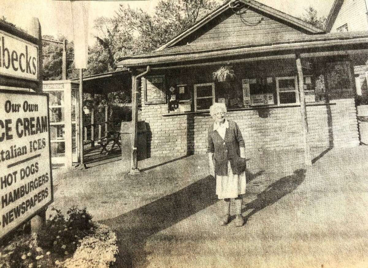 """The Stand circa 1988 with the original owner, Katherine Heibeck, or """"Doe Doe."""""""