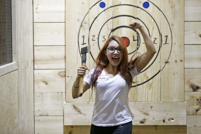 Go ax throwingGet your frustrations out by throwing an ax at a target.Pine & Iron Axe Throwing, Hartford