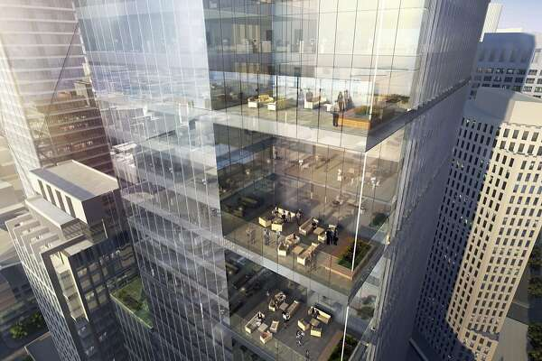 A rendering shows plans for Park Tower at Transbay, a 43-floor building near the Salesforce Tower at 250 Howard St.