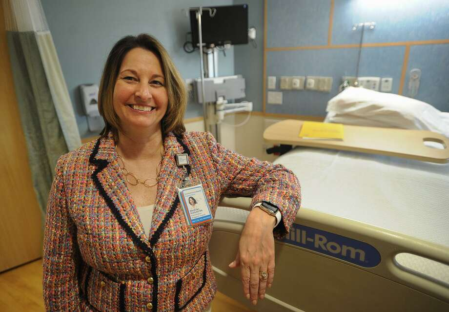 Senior Vice President and Chief Nursing Officer MaryEllen Hope Kosturko in a patient room at Bridgeport Hospital in Bridgeport, Conn. on Wednesday, May 9, 2018. Photo: Brian A. Pounds / Hearst Connecticut Media / Connecticut Post
