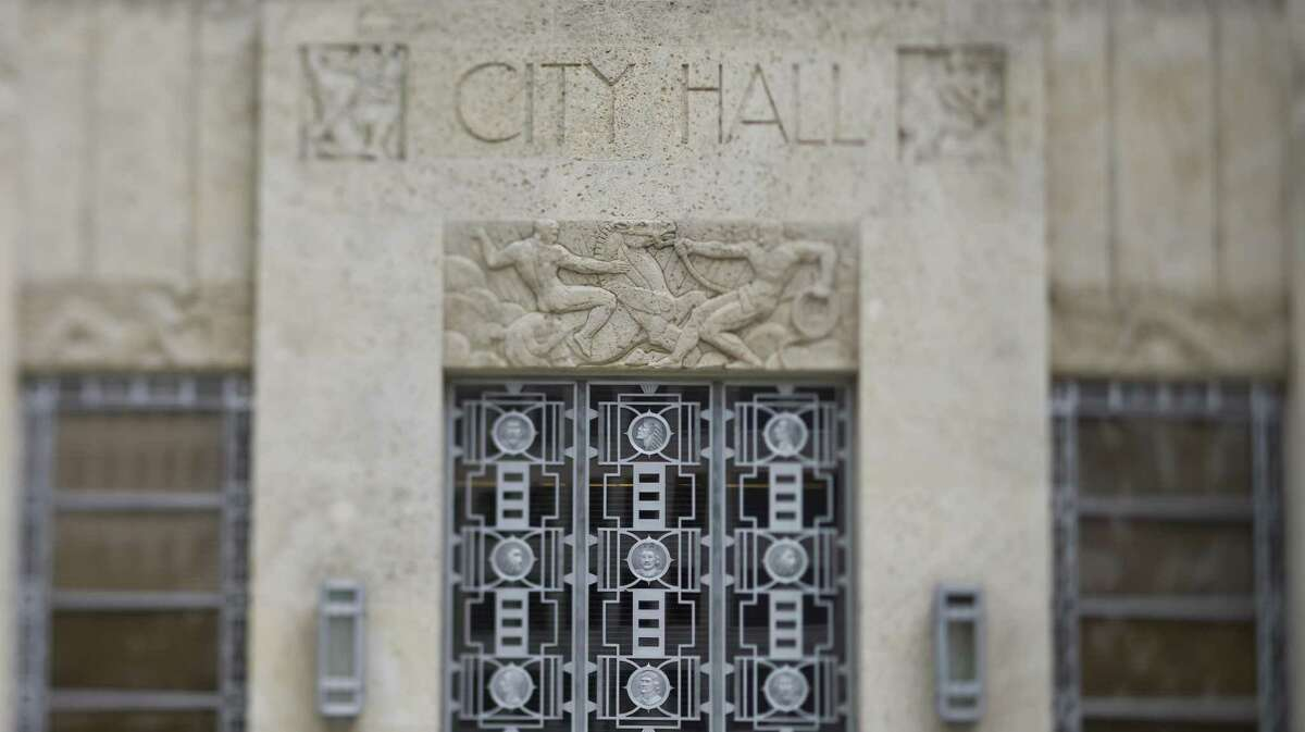 Houston City Hall in downtown Houston.