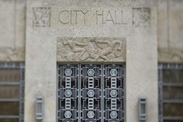 Stock image of Houston City Hall Sunday, Feb. 8, 2009, in downtown Houston.