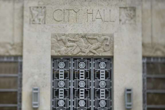 Stock image of Houston City Hall Sunday, Feb. 8, 2009, in downtown Houston.