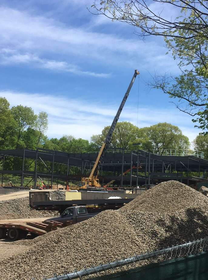 Work is advancing on schedule at the New Lebanon School construction site. Photo: / Robert Marchant / Hearst Media