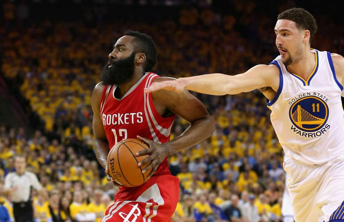 James Harden vs. Klay Thompson Harden's scoring actually has slightly dipped in the postseason (from 30.4 points per game in the regular season to 28.5 in the playoffs), but the Rockets haven't needed him to be great yet. Thompson is one of the league's best shooters, but he actually has shot just 28-74 (37.8 percent) from 3 in the playoffs. Advantage: Rockets