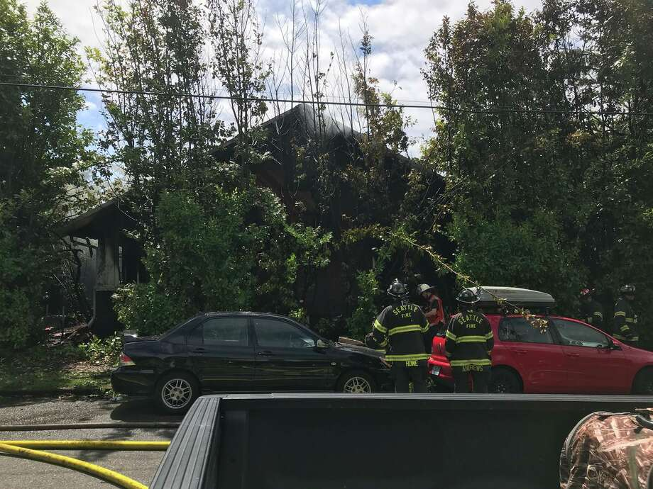 David Severtson was found dead after a home became engulfed in flames Friday  morning while officials tried to evict him from the West Seattle home,  according to the King County Sheriff's Office. Authorities announced Wednesday that he fatally shot himself after setting fire to the house with gasoline. Photo: Seattle Fire Department