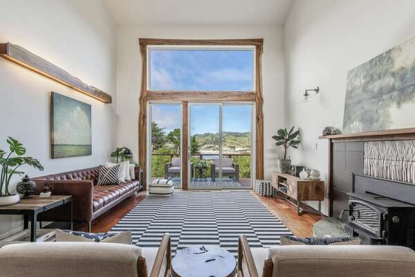 A six-bedroom home listed for $1.8 million is perched in the hills of Pacifica overlooking Pedro Point.