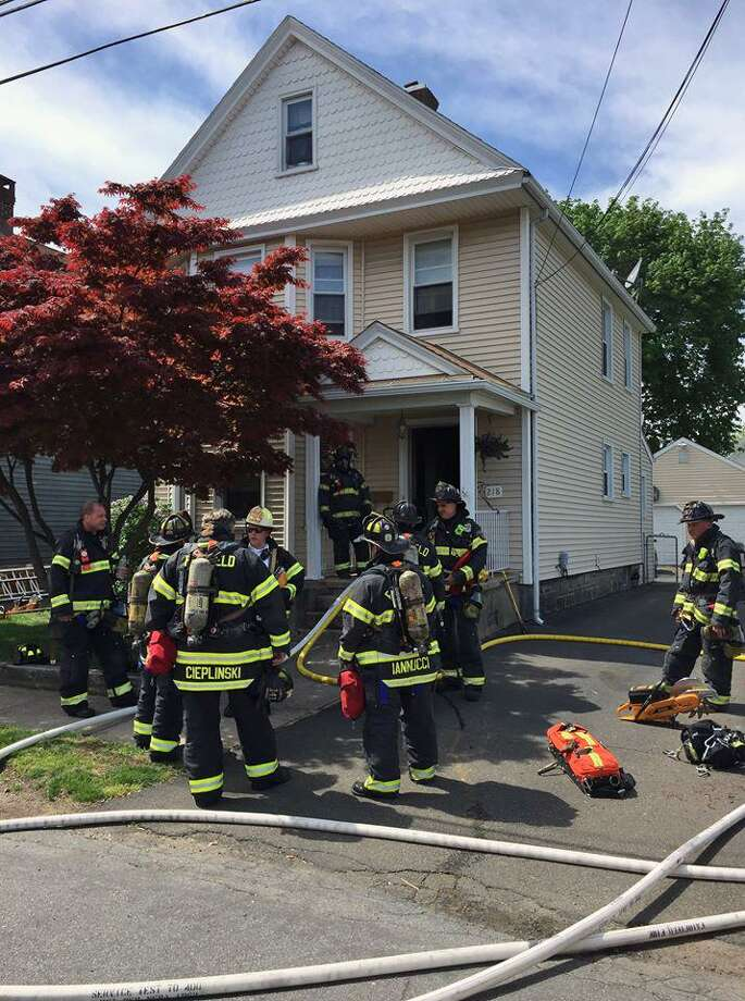 Fairfield, Conn., firefighters quickly extinguished a structure fire on May 11, 2018. Photo: Contributed Photo / Fairfield Fire Department / Contributed Photo / Connecticut Post Contributed