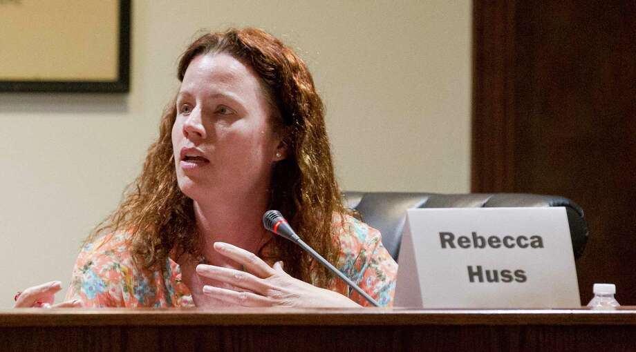 Rebecca Huss speaks during a Montgomery City Council candidate forum at Montgomery City Hall, Tuesday, April 18, 2018, in Montgomery. Photo: Jason Fochtman, Staff Photographer / © 2018 Houston Chronicle