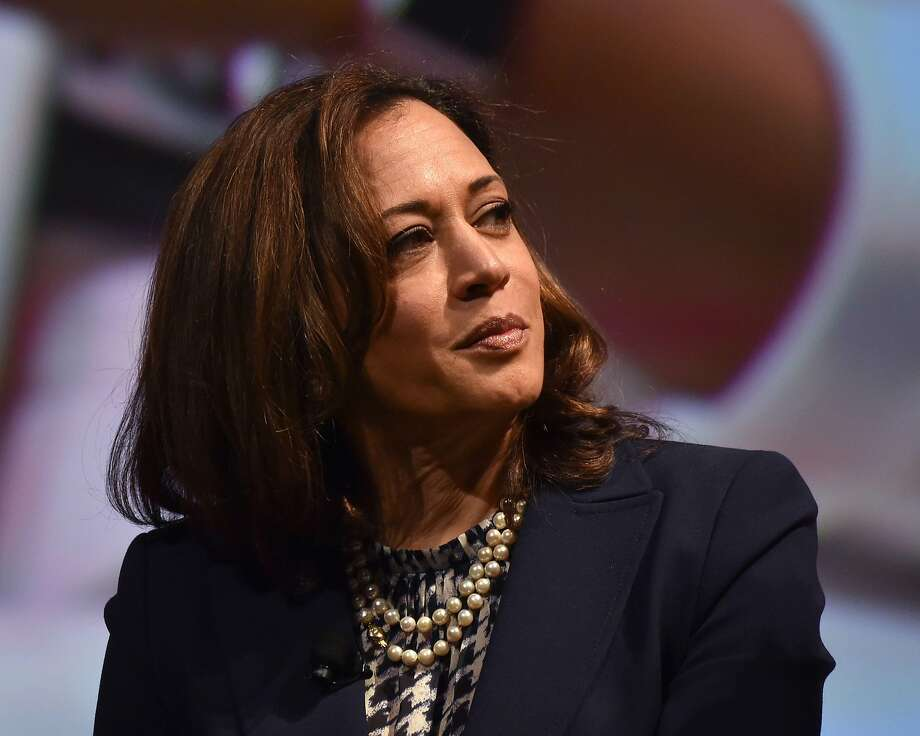 US Senator Kamala Harris attends the United State of Women Summit at the Shrine Auditorium in Los Angeles, on May 5, 2018. / AFP PHOTO / CHRIS DELMASCHRIS DELMAS/AFP/Getty Images Photo: CHRIS DELMAS;Chris Delmas / AFP / Getty Images