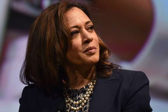 US Senator Kamala Harris attends the United State of Women Summit at the Shrine Auditorium in Los Angeles, on May 5, 2018. / AFP PHOTO / CHRIS DELMASCHRIS DELMAS/AFP/Getty Images