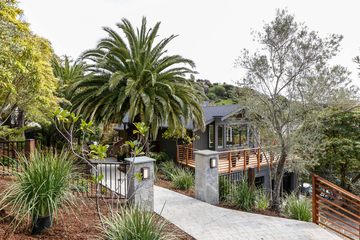55 Geldert Drive in Tiburon is a four-bedroom rebuilt by Mill Valley-based Westmore Home that's available for $3.295 million.