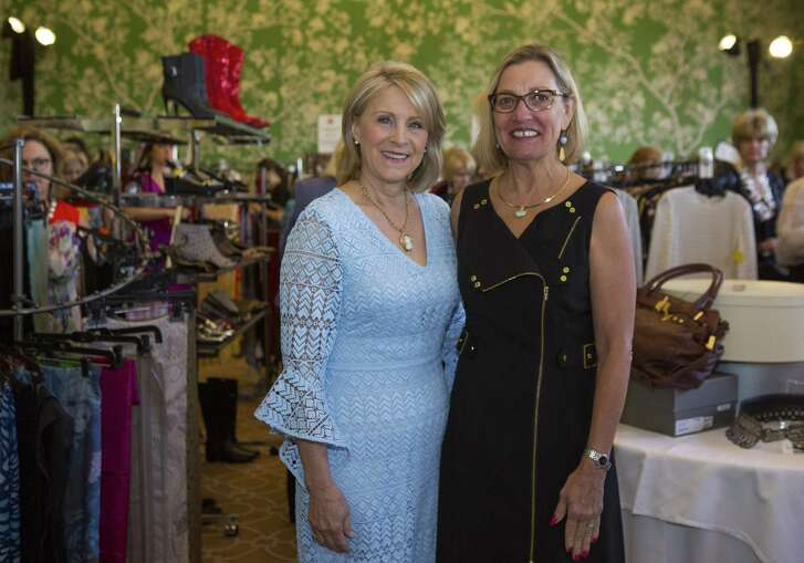 Rhonda Jones and Stick Dellaup during a VIP opportunity to shop in the Chic Boutique before the Salvation Army Women's Auxiliary Luncheon.