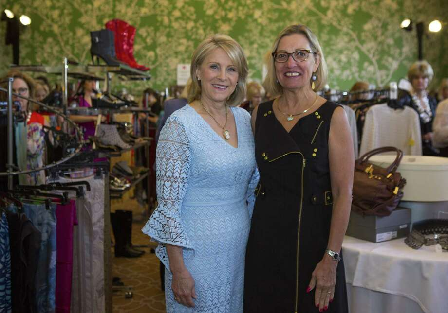 Rhonda Jones and Stick Dellaup during a VIP opportunity to shop in the Chic Boutique before the Salvation Army Women's Auxiliary Luncheon. Photo: Houston Chronicle