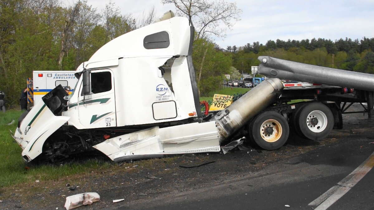 Police investigate a crash at Route 9 and Route 20 in Schodack on Friday May 12, 2018. (Martin Miller / Special to the Times Union)